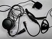 Гарнитура 3-х проводная с заушиной и большой кнопкой для радиостанций Kenwood / Baofeng / Wouxun / Quansheng