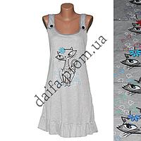 Женская котоновая ночная рубашка D6-1 оптом со склада в Одессе.