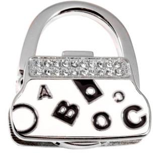 Оригинальный сумкодержатель Jinli JIN134 сумочка белый, буковки