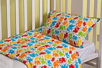 Постельное белье для малышей в кроватку ранфорс King Elephant SoundSleep
