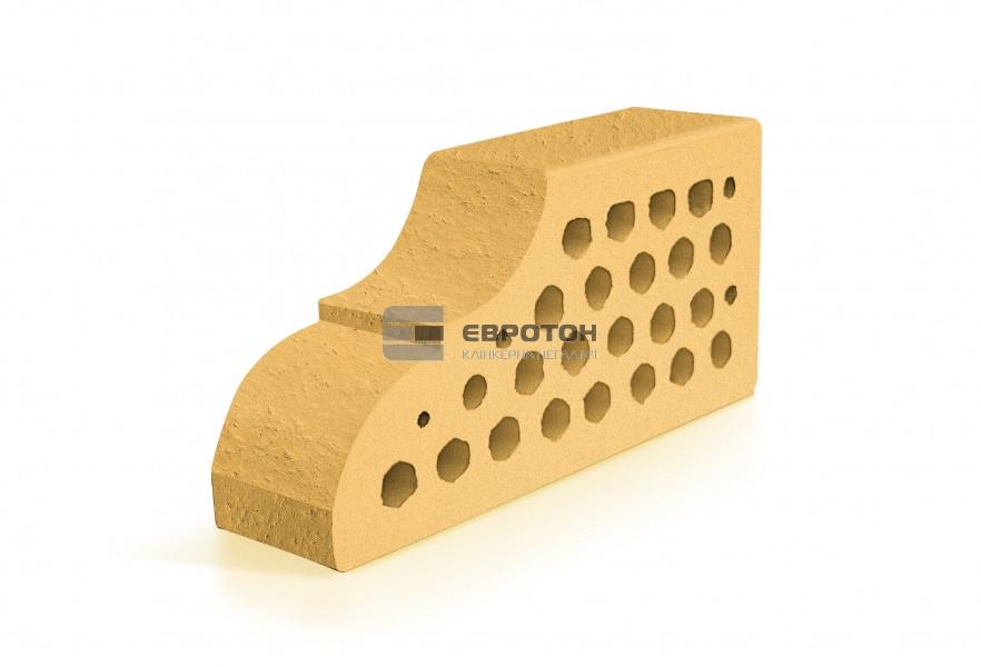 Фигурный клинкерный кирпич ЕВРОТОН ВФ-10 корсика желтый