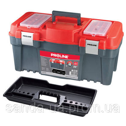 """Ящик для инструментов 25"""" 597х285х320 мм(алюминиевый замок) Proline 35725"""
