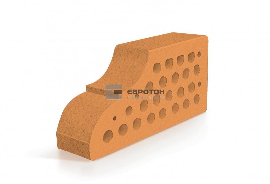 Фигурный клинкерный кирпич ЕВРОТОН ВФ-10 палермо персиковый