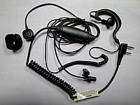 Гарнитура 3-х проводная с заушиной для радиостанций Kenwood / Baofeng / Wouxun / Quansheng