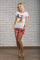 Пижама с шортами трикотажная Микки