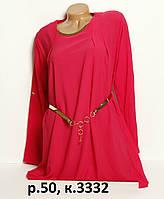 Женская блуза-туника баталл, р. 50 код 3332М
