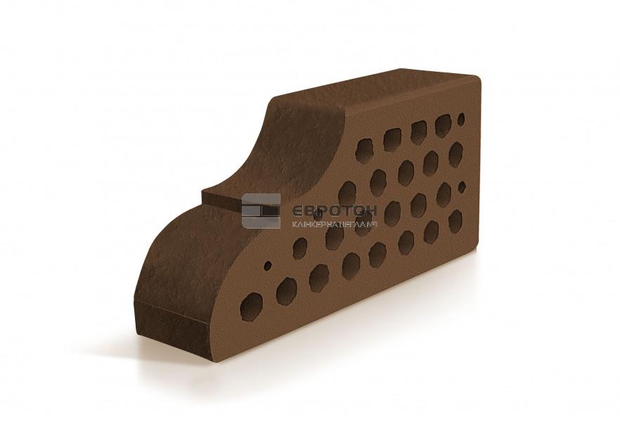 Фигурный клинкерный кирпич ЕВРОТОН ВФ-10 милан коричневый