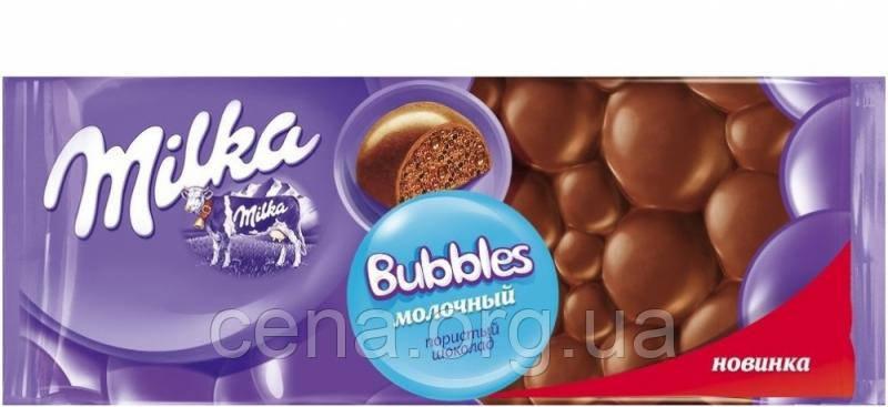 Молочный шоколад Милка Milka Bubbles пористый  - Цена в Одессе