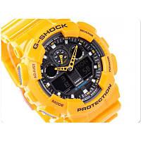 Супер цена! Часы Casio G-Shock GA100 желтый с черным