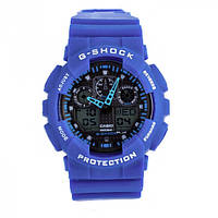 Супер цена! Часы Casio G-Shock GA100 синий с черным