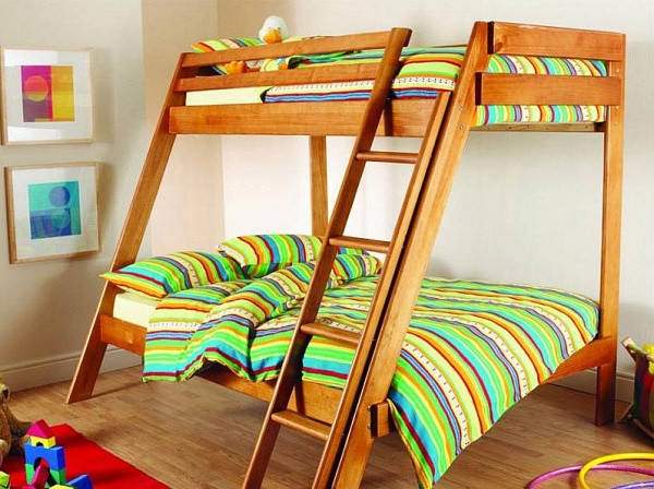 Двухъярусная кровать из дерева, фото 2
