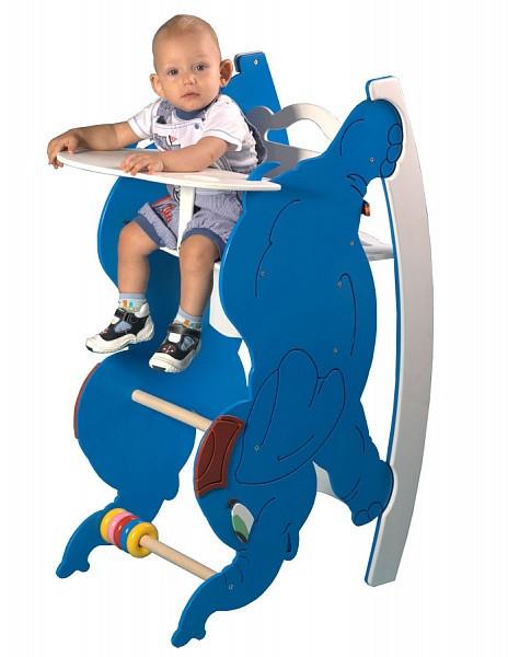 """Деревянный стульчик для кормления с качалкой и столиком """"Слоник"""""""
