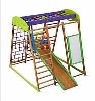 Детский спортивный комплекс для квартиры «Карамелька» из дерева SportBaby