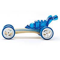 """Детская  деревянная игрушка  каталка из бамбука """"Dragster"""""""