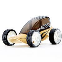 """Детская  деревянная игрушка  каталка из бамбука  """"Low Rider"""""""
