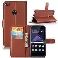 Чехол Huawei P8 Lite 2017 / P9 Lite 2017 / PRA-LX1 / Honor 8 Lite книжка PU-Кожа коричневый