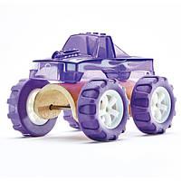 """Детская  деревянная игрушка  каталка  машинка из бамбука """"Monster Truck"""""""