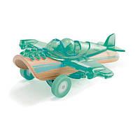 """Детская  деревянная игрушка  каталка  машинка из бамбука """"Petite Plane"""""""