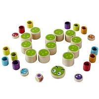 Деревянная игра для развития детей  из бамбука «Caterpillar Memo»