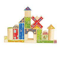 """Деревянная игра набор конструктор фигур для развития детей  из бамбука """"Bamboo Blocks"""""""