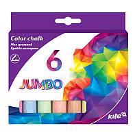 K17-073Мел цветной Jumbo, 15шт. в ведерке, Kite
