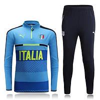 Тренировочный костюм сборной Италии, Italy, Puma, Пума, голубой, 2016 - 2017, к9