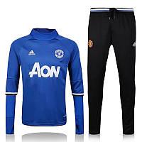 Тренировочный костюм Манчестер Юнайтед, MU, Adidas, Адидас, синий, 2016 - 2017, к12