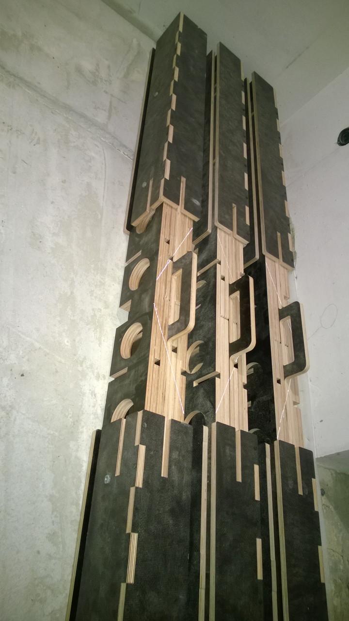 Ячеистый многофункциональный рабочий стол из влагостойкой фанеры