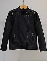 Стильная кожаная куртка для девочки