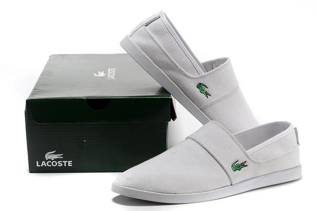 Мокасины мужские Lacoste Slip-On White (лакост) белые, цена 1 512 ... 90d4927f38c
