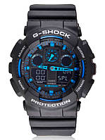 Супер цена! Часы Casio G-Shock GA100 черный с синим