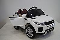 Детский электромобиль Джип КХ1313 Land Rover сиденье кожа, колёса EVA резина, дитячий електромобіль, белый
