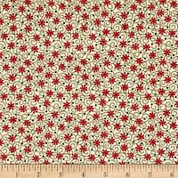 """Ткань для пэчворка и рукоделия американский хлопок """"Мелкие красные цветочки"""" - 22*55 см"""