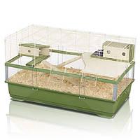 Клетка Imac Plexi 100 Wood для мелких грызунов, 100х54.5х55.5 см