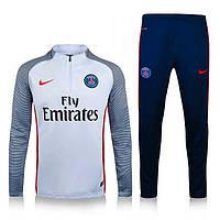 Тренировочный костюм ПСЖ, PSG, Найк, Nike, белый верх, синий низ, к40
