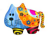 Детская мягкая игрушка Антистресс SOFT TOYS Кот в цветочек, DT-ST-01-62