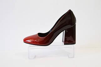 Туфли омбре красные Lirio 65, фото 2