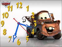 """Детские настенные часы """"Тачки"""" (Мэтр, Метр, Матер) 30*40 см, часы для детской"""