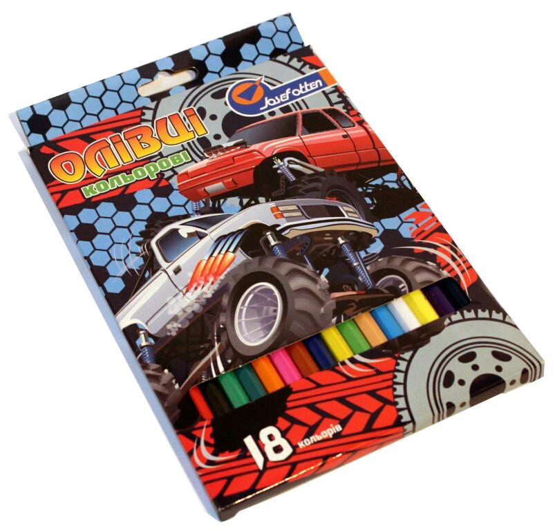 Карандаши цветные JOSEF OTTEN 18 цветов Машины монстры