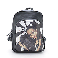 Женский рюкзак с фоторисунком брюнетка с собачкой