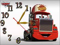 """Детские настенные часы """"Тачки"""" (Мак, Мэк, Мек) 30*40 см, часы для детской"""