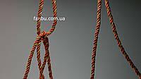 Декоративный витой шнур красный с золотом, ширина 6.5мм (1моток-100ярдов)