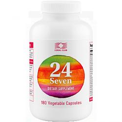 Комплекс 24/7-натуральный  комплекс витаминов   (180табл.,Коралловый клуб,США)