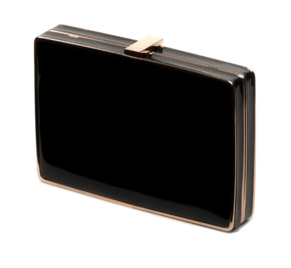 e5975d55980f Клатч-коробка женский черный лаковый Rose Heart -