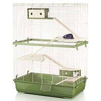 Клетка Imac Rat 80 Double Wood для грызунов, 80х48,5х108,5 см