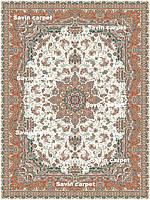 Иранский ковер (Персидский),  коллекция  Zarrin  2, Tabriz, Cream