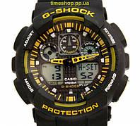 Супер цена! Часы Casio G-Shock GA100 чорный с желтым