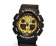 Супер цена! Часы Casio G-Shock GA100 чорный с золотым