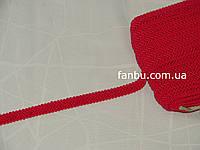 "Цветная тесьма ""косичка шубная"" ярко красная ,ширина 1.2см(1уп-50м)"