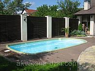 Композитный бассейн Леман 6,50х3,20м глубиной 1,50м